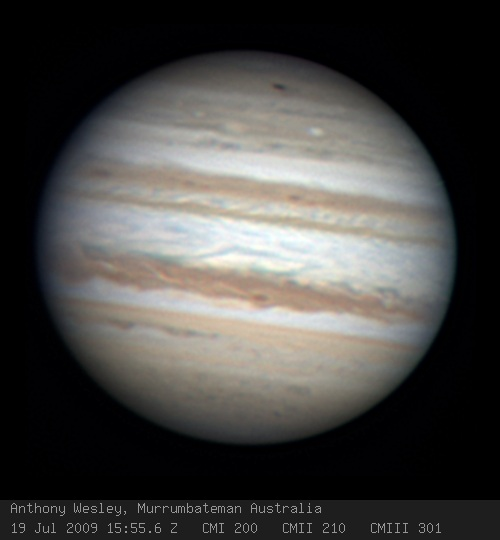 Jupiter Image Courtesy NASA  http://apod.nasa.gov/apod/ap090723.html