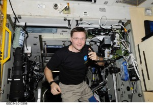 Hams can be found anywhere. NASA astronaut Doug Wheelock, Expedition 24 flight engineer, uses a ham radio system in the Zvezda Service Module of the International Space Station.  Courtesy NASA