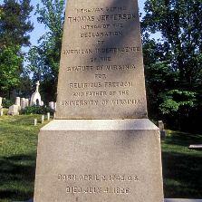 Jefferson Obelisk Courtesy Monticello.org