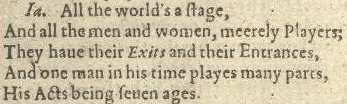 First_Folio,_Shakespeare_-_0212_(All_the_world's_a_stage)